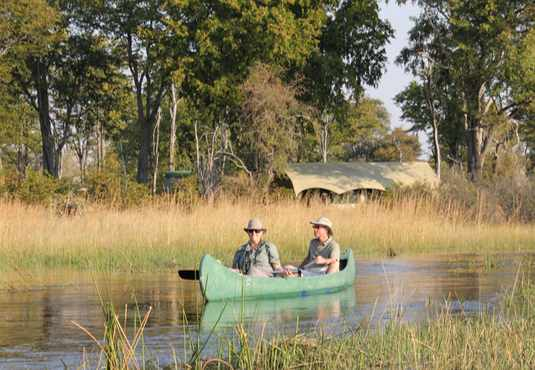 Canoe safari, Selinda Reserve, Botswana