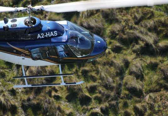 Helicopter flight over the Okavango Delta