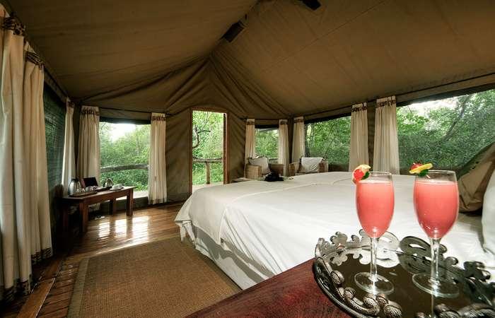 Private safari tent