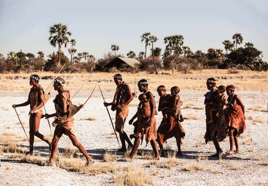 Bushmen family group