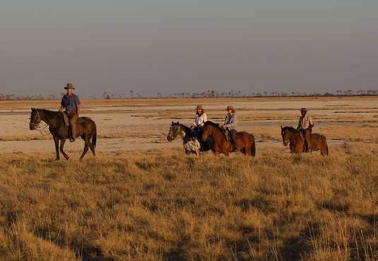 Horse riding in the Land of a Thousand Hills, Kalahari