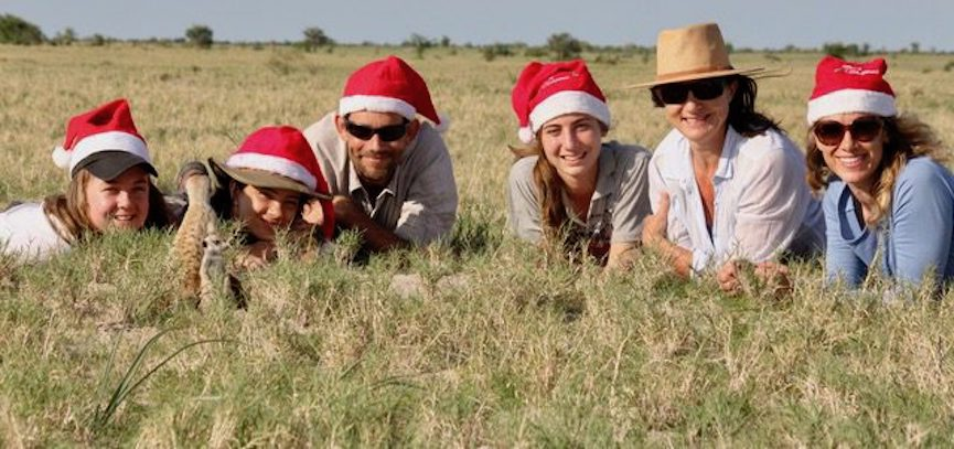 Botswana family Christmas