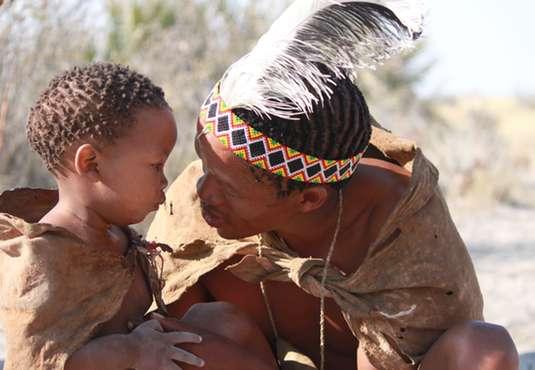 Bushman and child