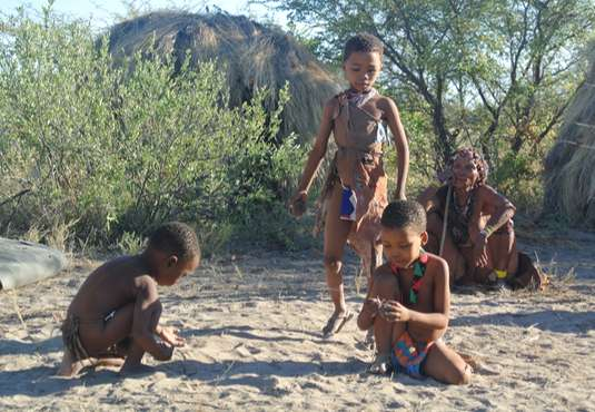 Bushmen children, Kalahari
