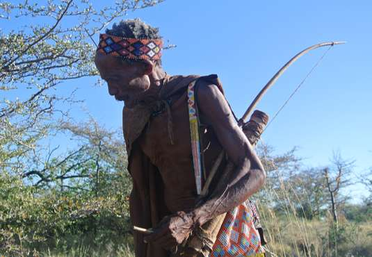 Bushmen elder, Kalahari