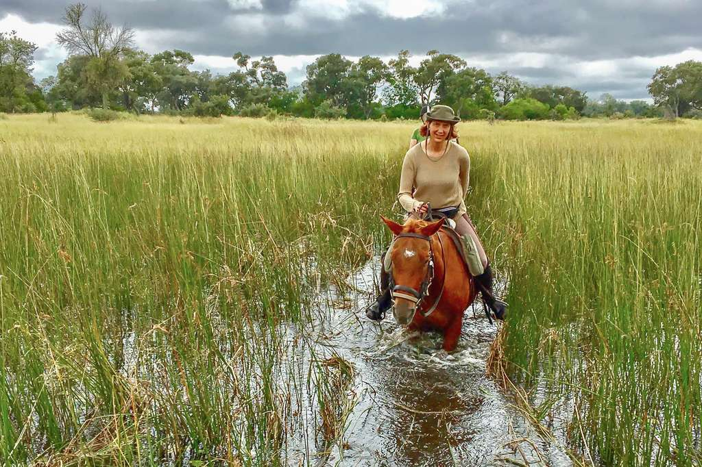Horse riding, Okavango Delta