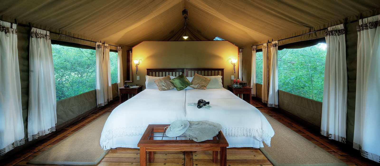 Royal Tree Lodge tent interior